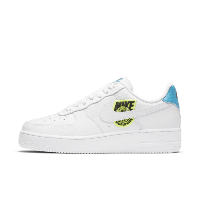 Nike Air Force 1 Worldwide Pack - White/Green zijaanzicht