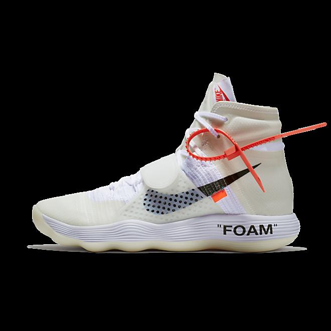 Nike The Ten React Hyperdunk 'Off White' zijaanzicht