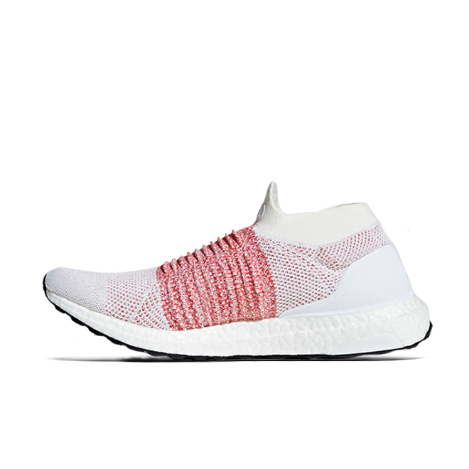 adidas Ultra Boost Laceless White Scarlet