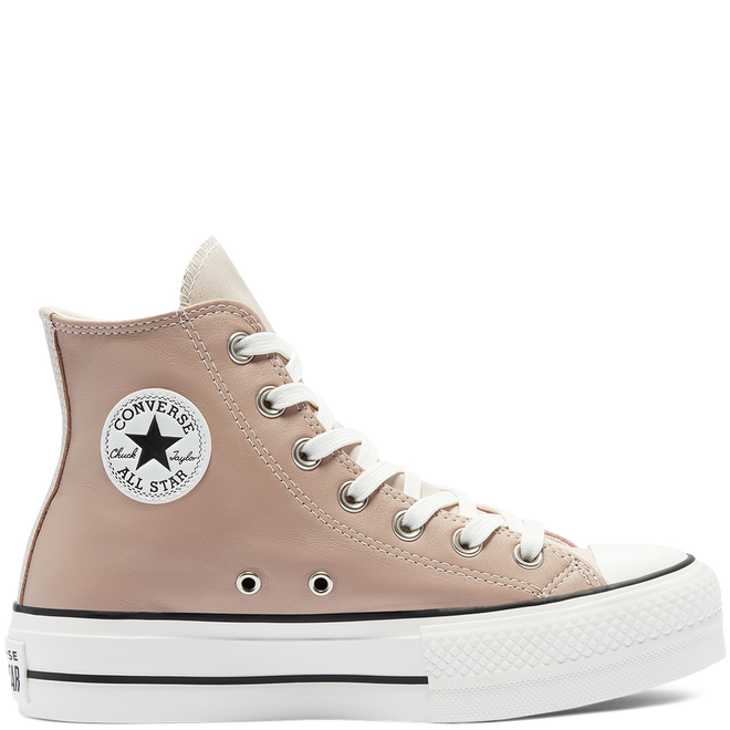 Womens Neutral Tones Platform Chuck Taylor All Star High Top
