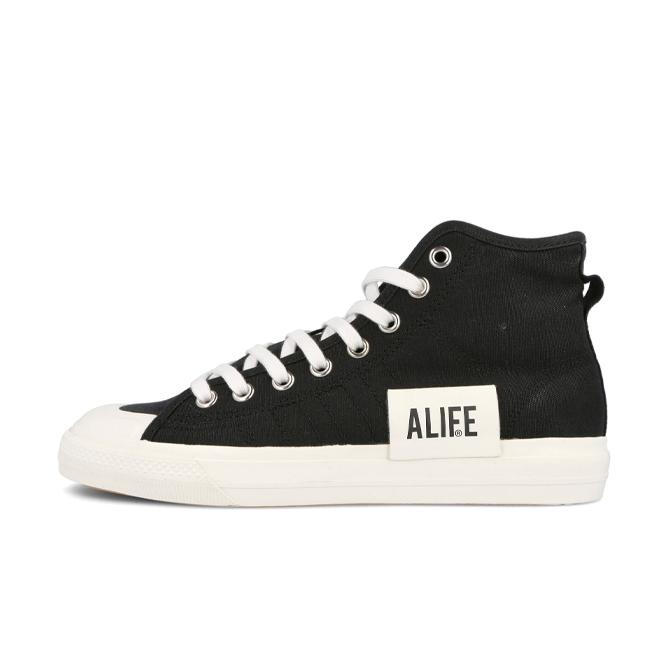 Alife X adidas Nizza Hi 'Black' zijaanzicht