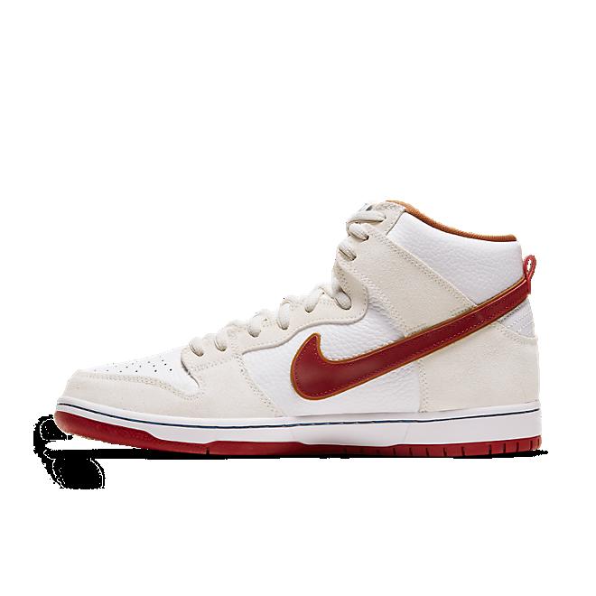 Nike SB Dunk High Sail Bright Crimson