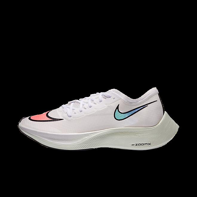 Nike ZoomX VaporFly Next% White Hyper Jade Flash Crimson