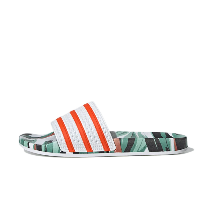 adidas Adilette 'Jungle Leaf' zijaanzicht