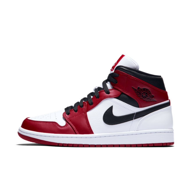 Air Jordan 1 Mid 'Chicago' zijaanzicht
