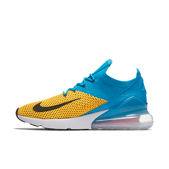 Nike Air Max 270 FlyKnit 'Yellow/Blue'