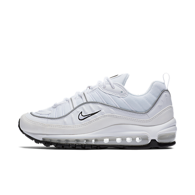 Nike Air Max 98  WMNS 'White/Reflective Silver' zijaanzicht