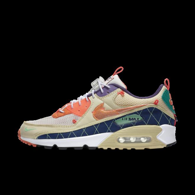 Nike Air Max 90 Trail 'Beige/Neon' zijaanzicht