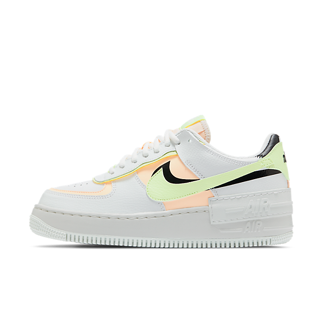 Nike Air Force 1 Shadow Summit White Barely Volt Crimson Tint (W)