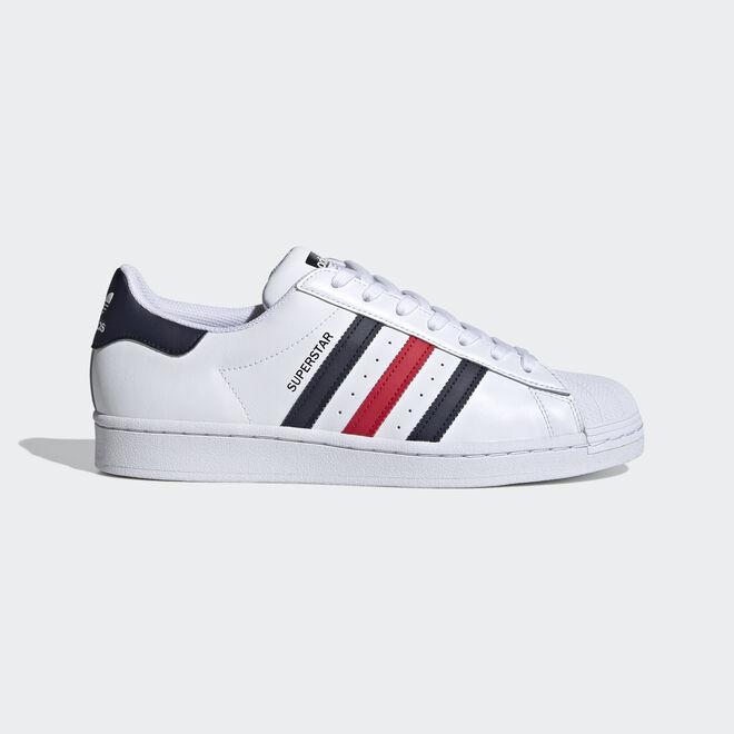 adidas Superstar Ftw White/ Scarlet/ Ftw White