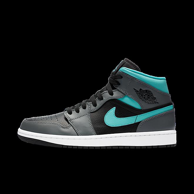 Jordan 1 Mid Grey Aqua