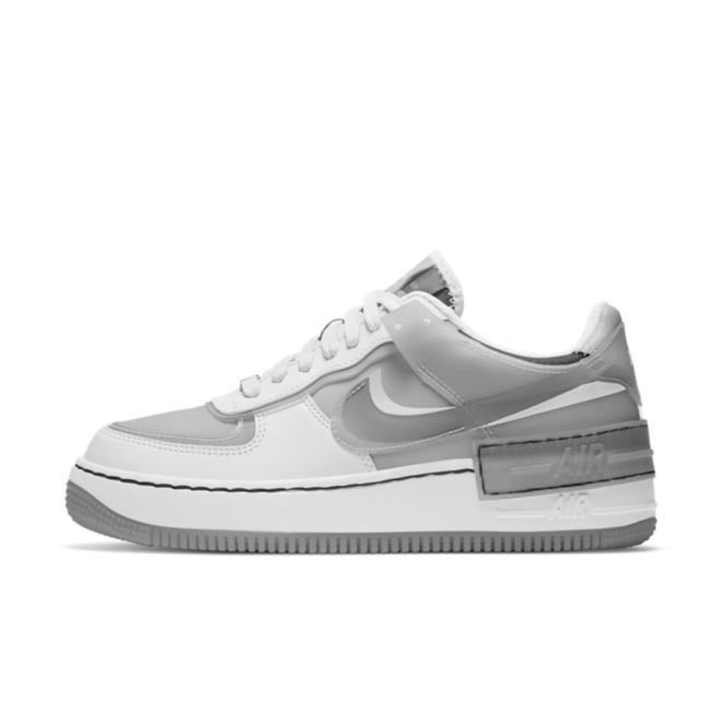 Nike Air Force 1 Shadow 'Grey' zijaanzicht