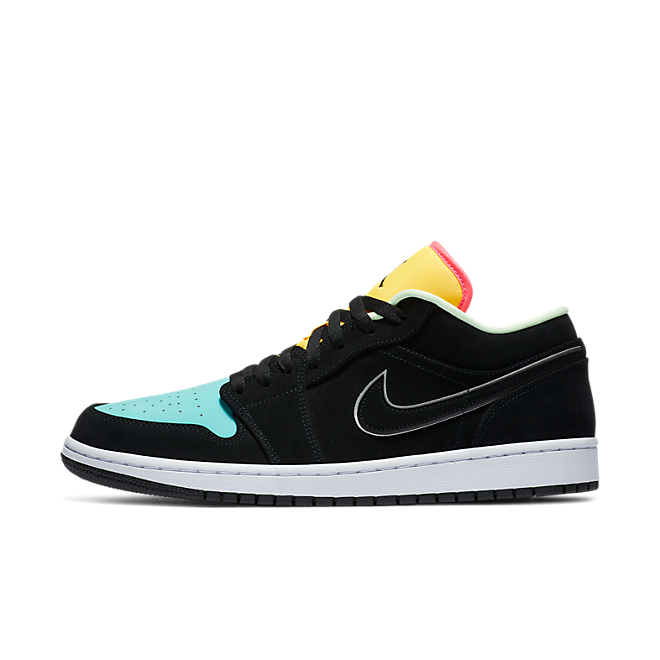 Jordan 1 Low Black Aurora Green Laser Orange