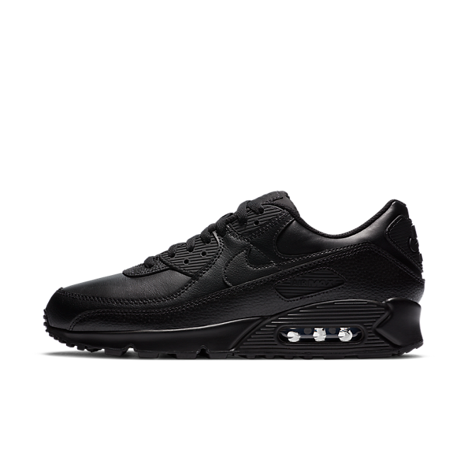 Nike Air Max 90 Leather Triple Black (2020)