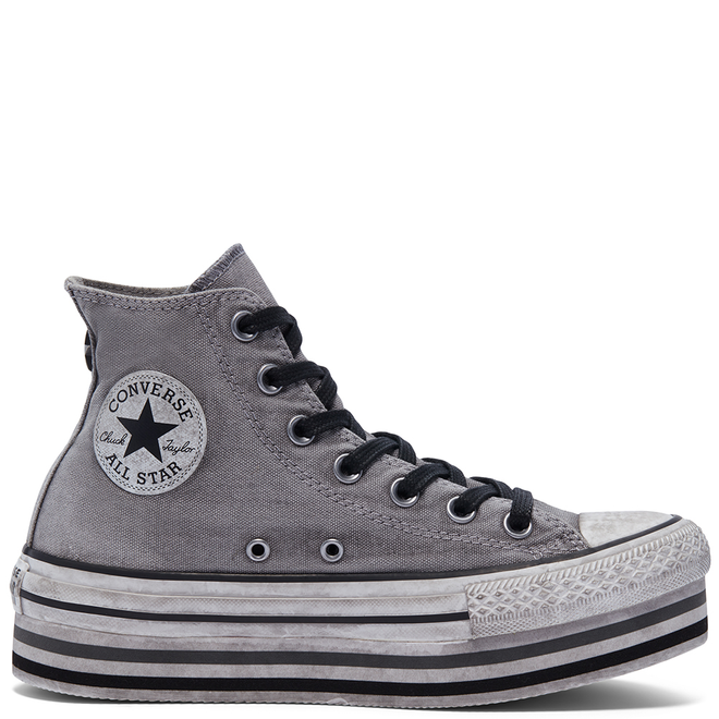 Smoke In Platform Chuck Taylor All Star High Top voor dames