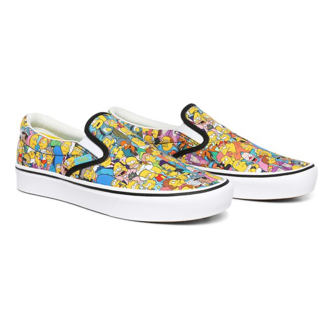 Vans x The Simpsons Comfycush Slip-on Springfield Multi Trainers