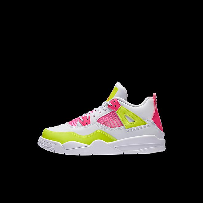Jordan 4 Retro White Lemon Pink (PS)