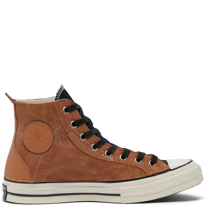 Unisex Leather Patchwork Chuck 70 High Top