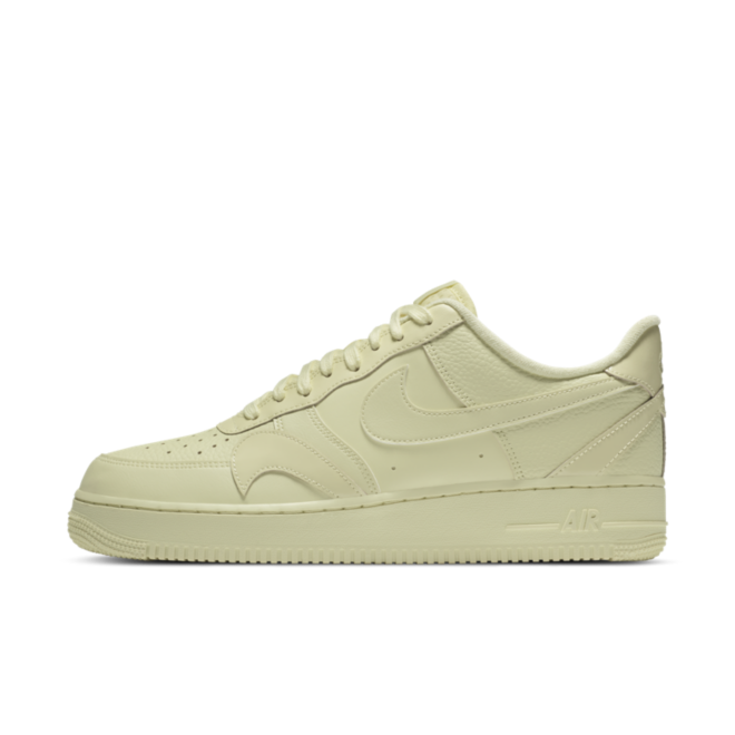 Nike Air Force 1 Misplaced Swoosh 'Pale Yellow' zijaanzicht