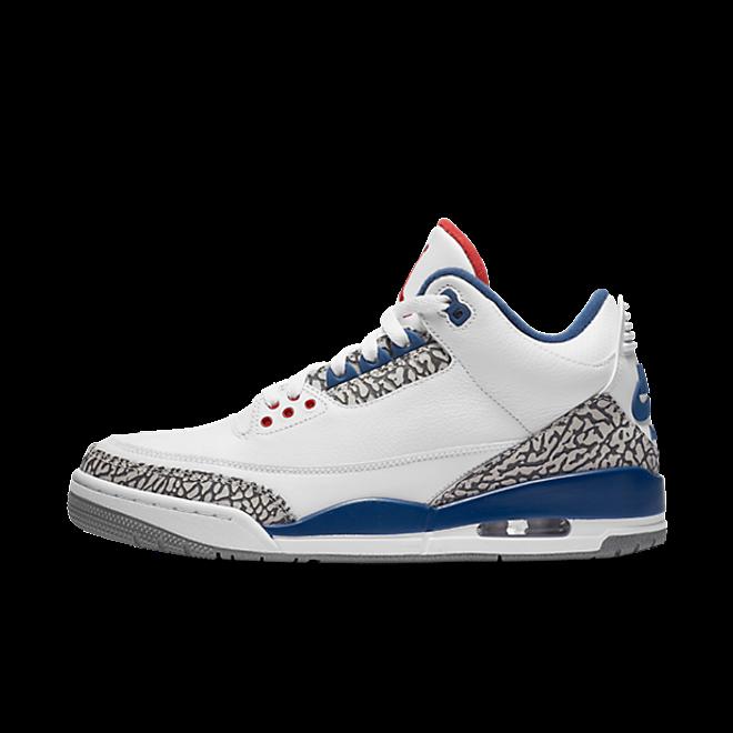 Air Jordan 3 'True Blue' zijaanzicht
