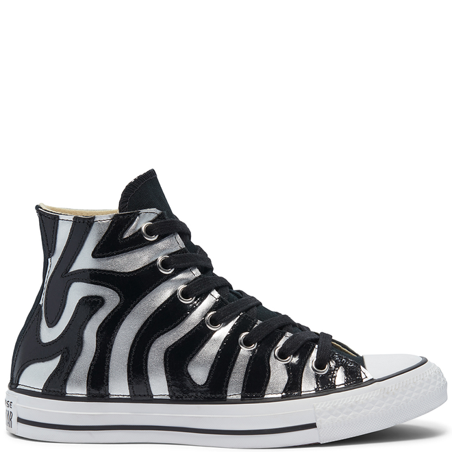 Metallic Zebra Chuck Taylor All Star High Top