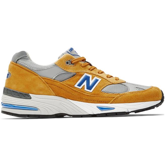 New Balance 991 Yellow Blue