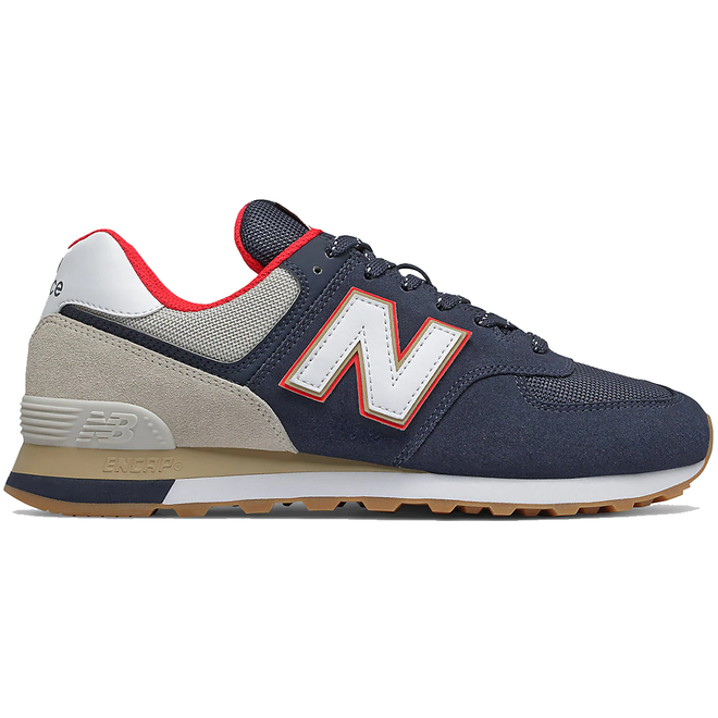 New Balance 574 Navy Energy Red