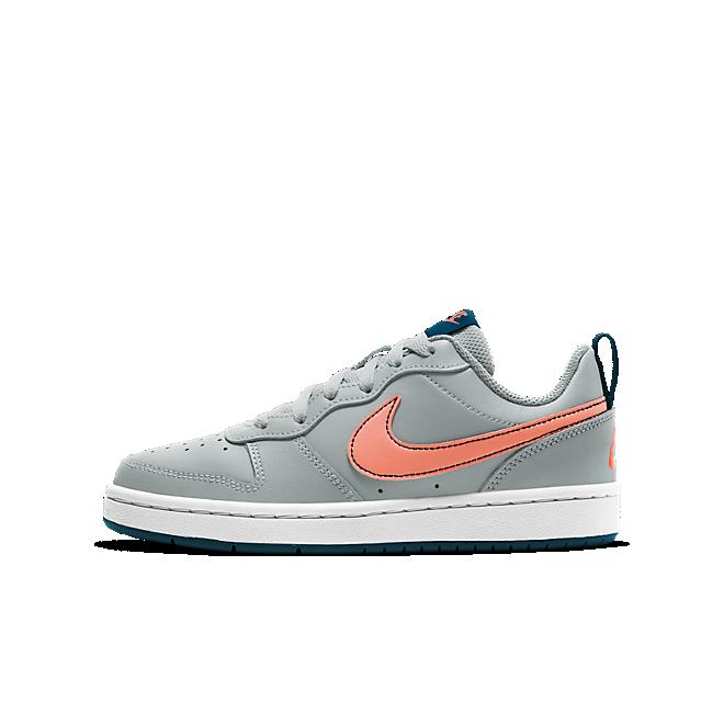 Nike Court Borough Low Grijs Oranje