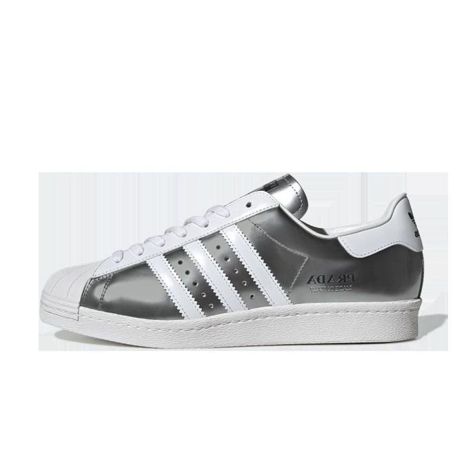 Prada X adidas Superstar 'Silver Metallic' FX4546