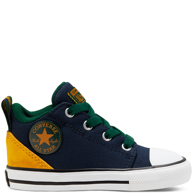 Toddlers' Twill Twist Chuck Taylor All Star Ollie Mid