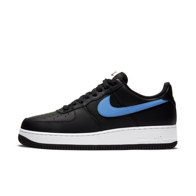 Nike Air Force 1 RS Black 'Blue & Red Swoosh' zijaanzicht