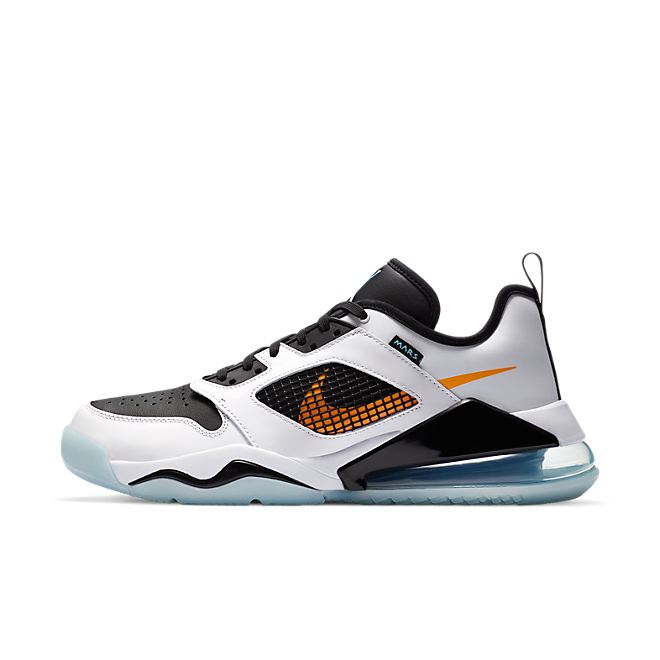 Jordan Mars 270 Low White Black Orange Aqua