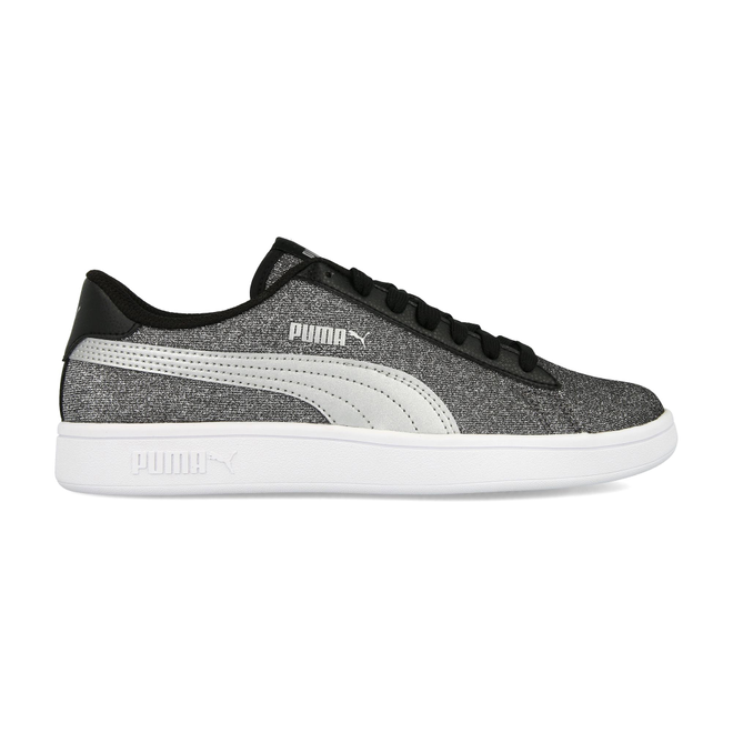 Puma Smash V2 Glitz Glam Jr Black/Silver PW - 36