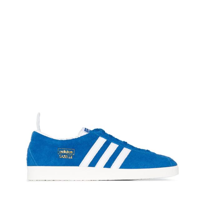 adidas Blue and White Gazelle Vintage