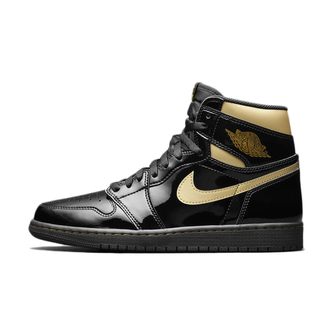 Air Jordan 1 High OG Patent 'Black Gold'