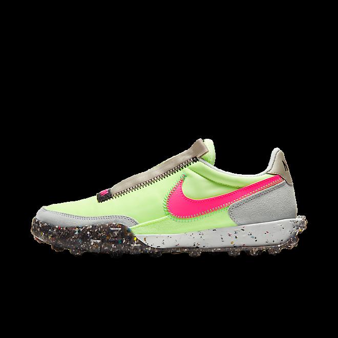 Nike Waffle Racer Crater 'Barely Volt/Pink Blast' zijaanzicht
