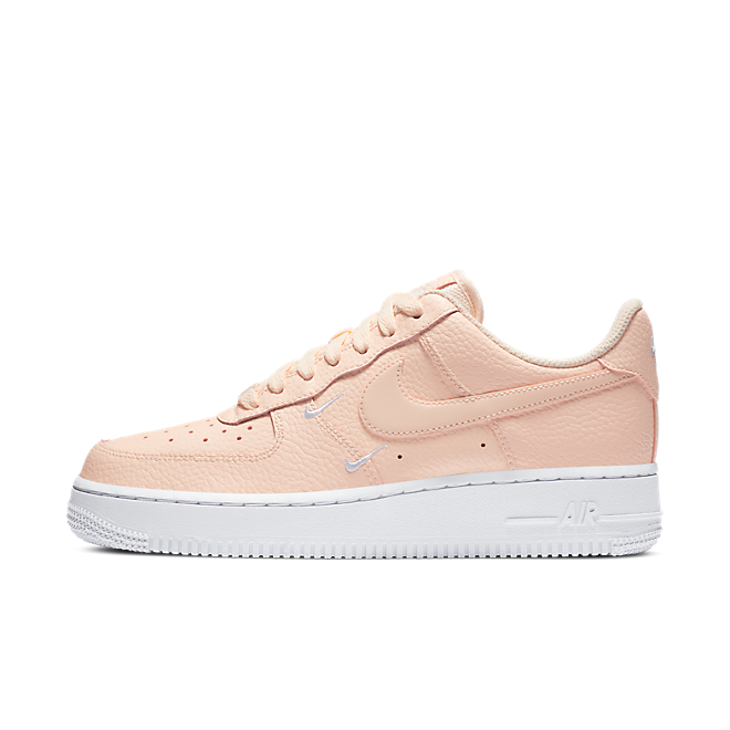 Nike Air Force 1 Swooshes 'Pink' zijaanzicht