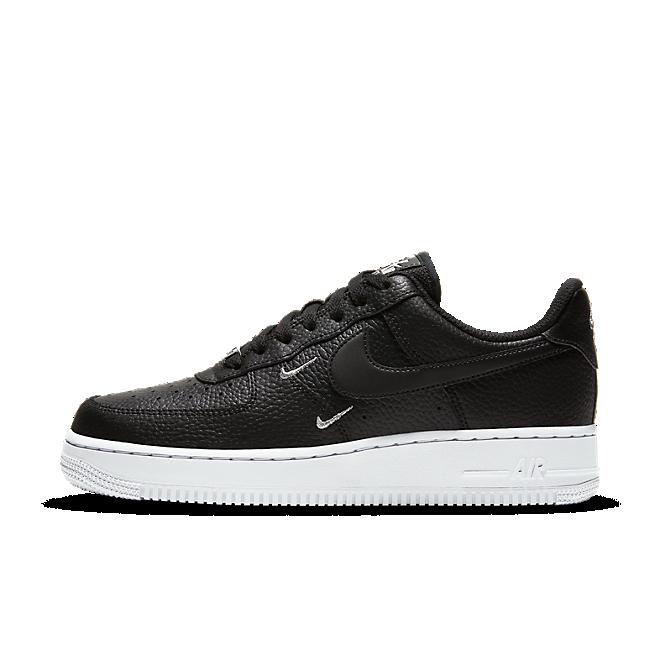 Nike Air Force 1 Swooshes 'Black' zijaanzicht