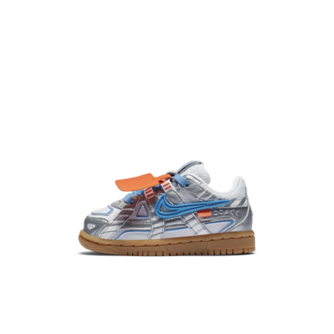 Off-White X Nike Rubber Dunk TD 'University Blue' zijaanzicht