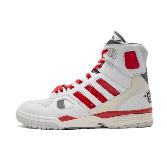 Kid Cudi X adidas Torsion Artillery 'White/Red' zijaanzicht