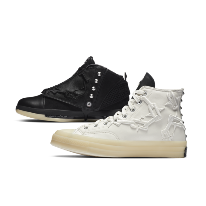 Air Jordan 16 & Converse Chuck 70 High zijaanzicht