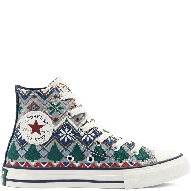 Holiday Sweater Chuck Taylor All Star High Top voor kinderen