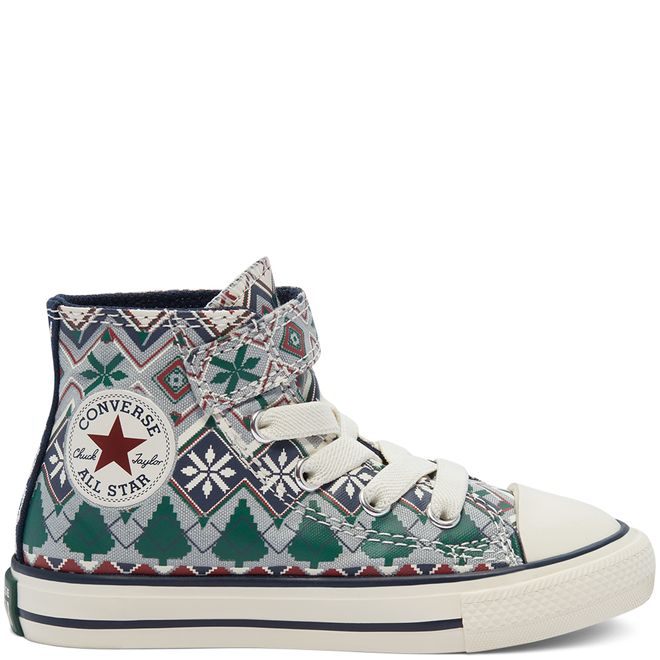 Holiday Sweater Easy-On Chuck Taylor All Star High Top voor peuters