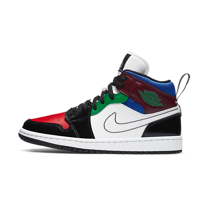 Jordan 1 Mid SE Black White Multi-Color (W) DB5454-001