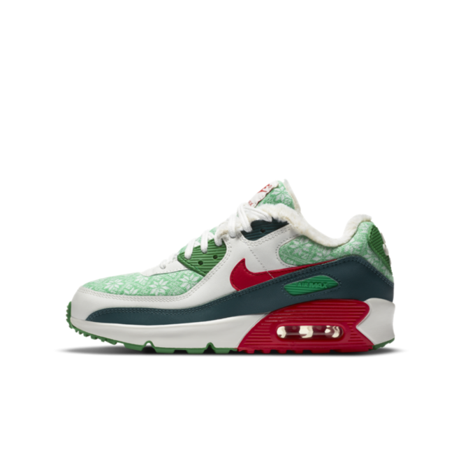 Nike Air Max 90 GS 'Christmas' zijaanzicht