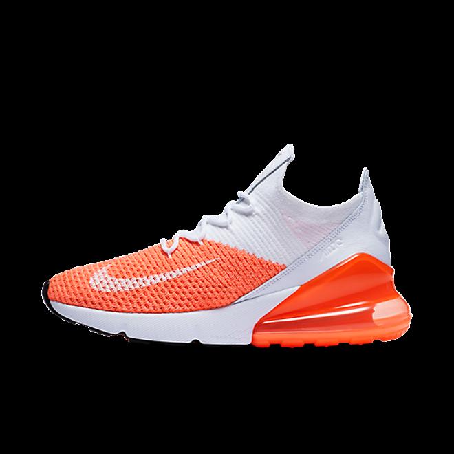 Nike WMNS Air Max 270 Flyknit 'White/Orange'