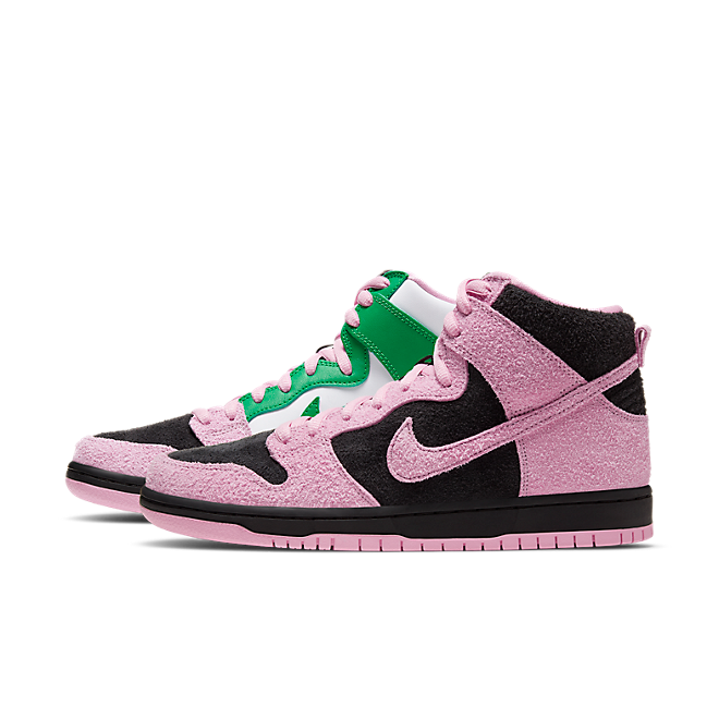 Nike SB Dunk High 'Invert Celtics' zijaanzicht