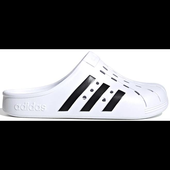 adidas Adilette Clog White Black