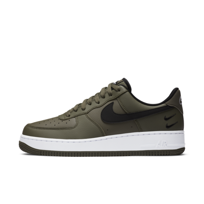 Nike Air Force 1 Double Swoosh 'Khaki' zijaanzicht