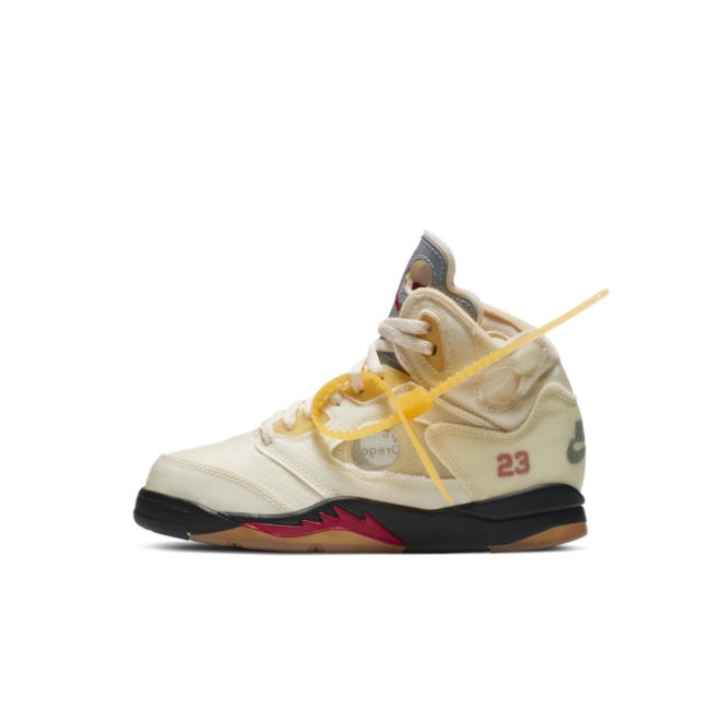 Off-White X Air Jordan 5 PS 'Sail' zijaanzicht